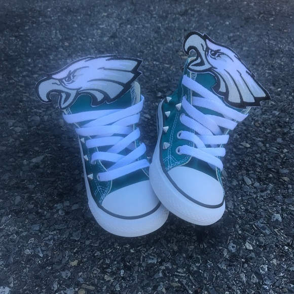 Philadelphia Eagles Studded Converse
